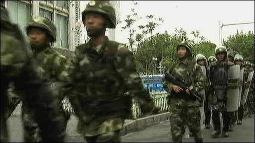 Troops in Urumqi