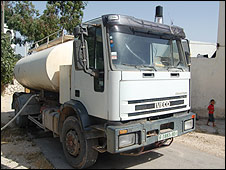 Water tanker, Faqua village, West Bank