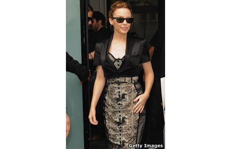 Kylie Minogue at Paris Fashion Week