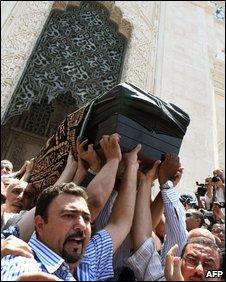 Marwa Sherbini's funeral in Alexandria
