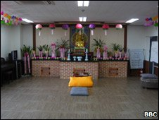 Buddhist chapel, hanawon recpetion centre, Seoul, July 09
