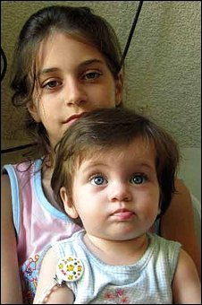 Two of Zeina Miri's young daughters