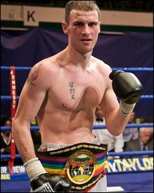 John O'Donnell with his Commonwealth belt (picture: Justin Mckie)