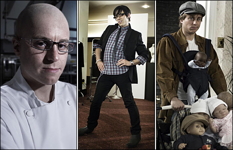 Kevin Bishop as Heston Blumenthal, Gok Wan and Brad Pitt