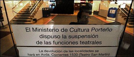Theatres in Argentina are closed