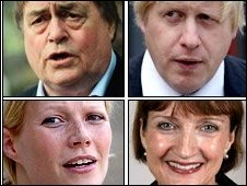 (Clockwise from top left) John Prescott, Boris Johnson, Tessa Jowell and Gwyneth Paltrow