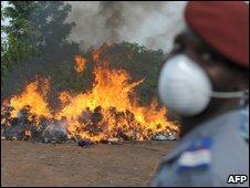 Drug officers in Ivory Coast, file image