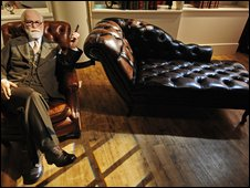 Wax work of Sigmund Freud
