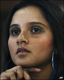 Sania Mirza at a news conference in February 2009