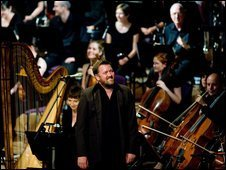 Elbow perform with the Halle Orchestra. Photo: Joel Chester Fildes
