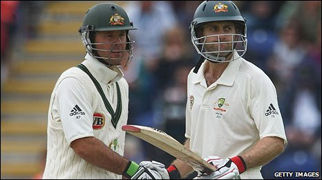 Ricky Ponting and Simon Katich