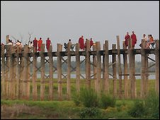 U Bein's Bridge in Mandalay - file photo