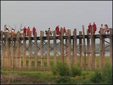 U Bein's Bridge in Mandalay - file photo
