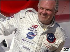 Steve Fossett in Kansas, USA (3 March 2005)