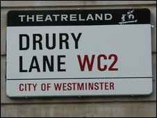 Old Theatreland street sign
