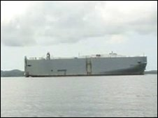 A ship outside Singapore limits is used for storage only