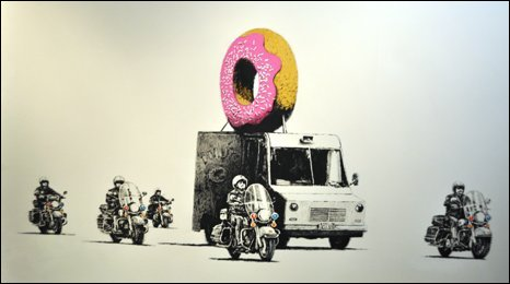 Image of Banksy exhibition