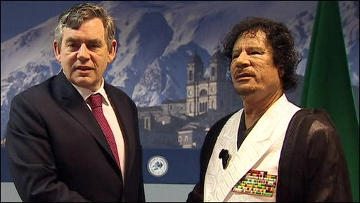 Brown and Gaddafi