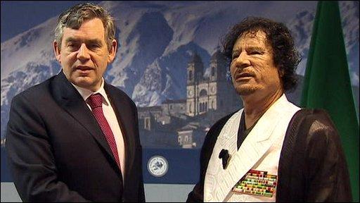 Brown and Gaddafi