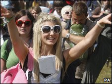 People at the festival