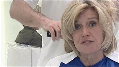 Selina Scott in hairdressers