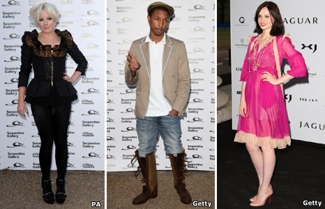 Victoria Hesketh from Little Boots, Pharrell Williams and Sophie Ellis-Bextor