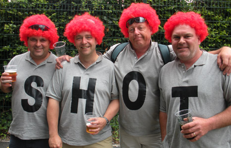 Ashes fans in Cardiff