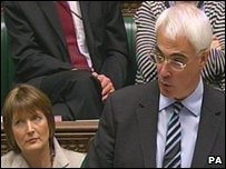 Chancellor Alistair Darling speaking in the House of Commons on the White Paper