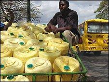 A Nairobi water seller