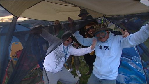 Music fans at T in the Park