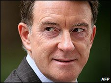 UK Business Secretary Lord Mandelson