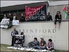 Squatters outside Brentford County Court
