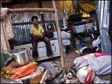 Child actor Azharuddin Ismail in his Mumbai slum