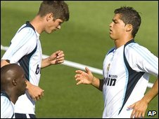 Klass-Jan Huntelaar (left) and Cristiano Ronaldo (right)