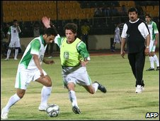 Iraqi players in training, 8 July 2009