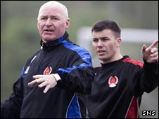 John Brown and Paul Stewart coach Clyde's trialists