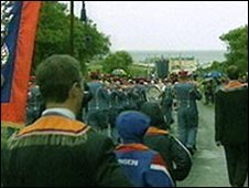 Orangemen marching in Rossnowlagh, County Donegal