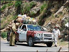 Checkpoint in Swat, 9 July 2009
