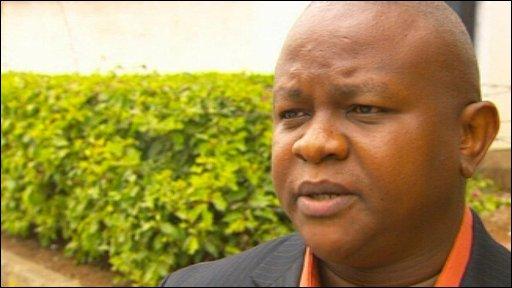 Kenyan man  on Obama's visit