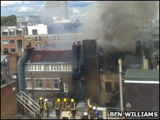 Dean Street building fire