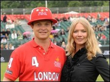 Jack and Jodie Kidd during Polo in the Park at the Hurlingham Club in south west London in May