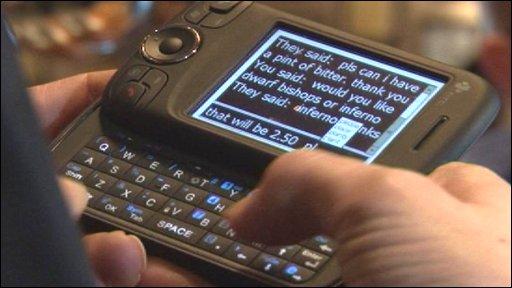 Bbc News Technology Deaf Blind Communication Goes Portable