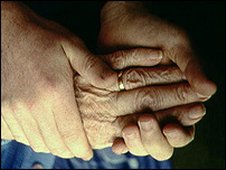 Two pairs of hands