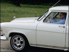 Mr Putin driving a 1956 Volga
