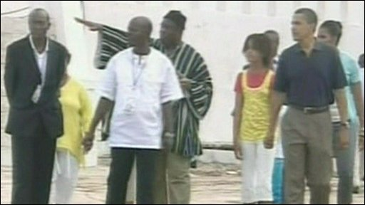 President Obama and family visit Cape Coast Castle