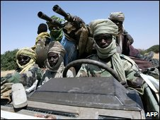 Sudanese JEM guerillas in north-west Dafur (file image)