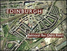 Map showing Balmoral bar