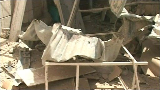 Aftermath of boming at a Baghdad church