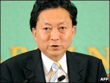 DPJ leader Yukio Hatoyama in Tokyo (10 July 2009)