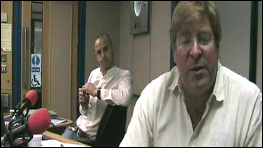 Presenters Edward Stourton and Evan Davis